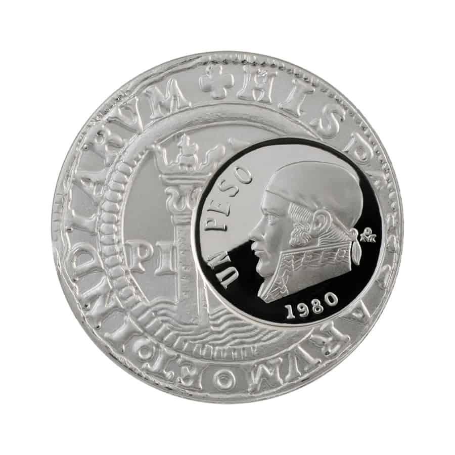 1 onza de plata, México 1980, anverso