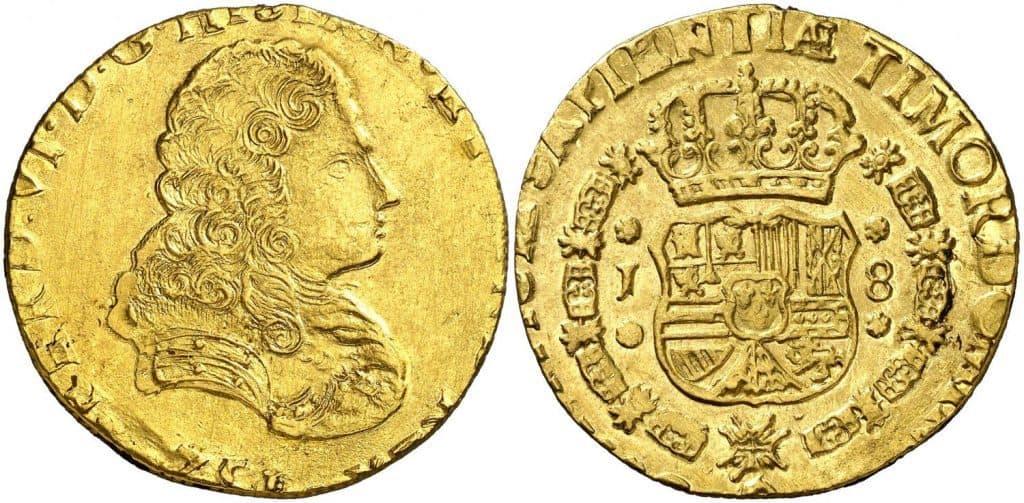 1751. Fernando VI. Guatemala. J. 8 escudos