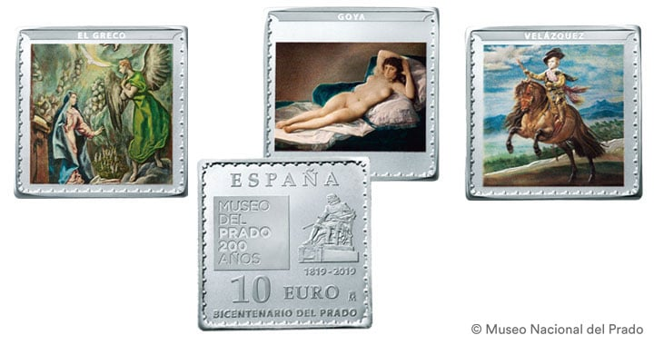 """VI Serie """"Tesoros de los Museos Españoles"""", Conmemorativas Museo del Prado Plata"""