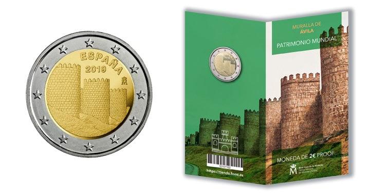 2 euros conmemorativa de las murallas de Ávila, FNMT