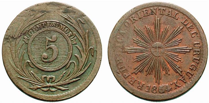 5 céntimos, 1854