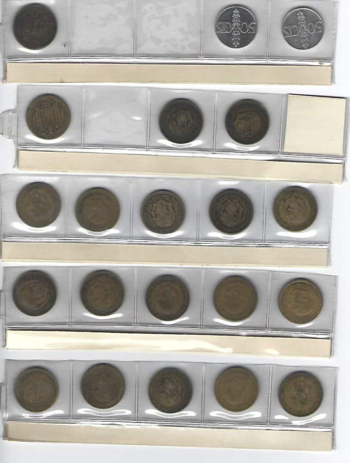 lámina de monedas