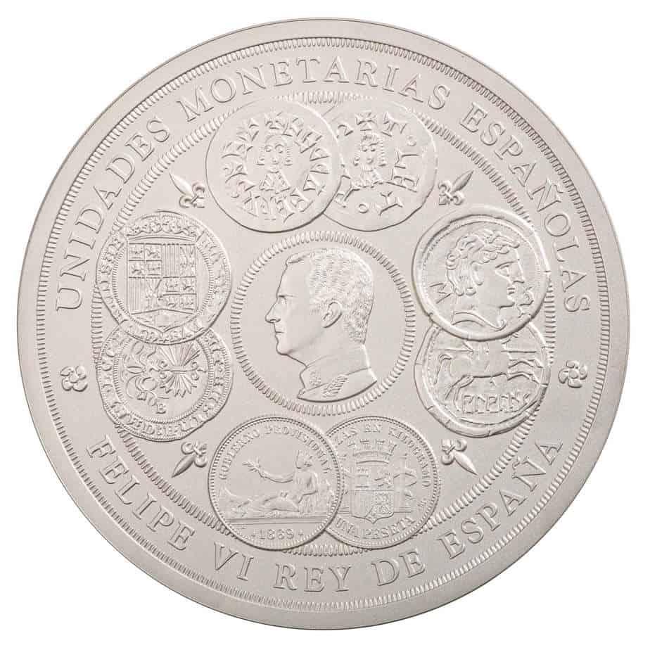 Moneda de 1 kilo de plata 2019: Unidades Monetarias Españolas