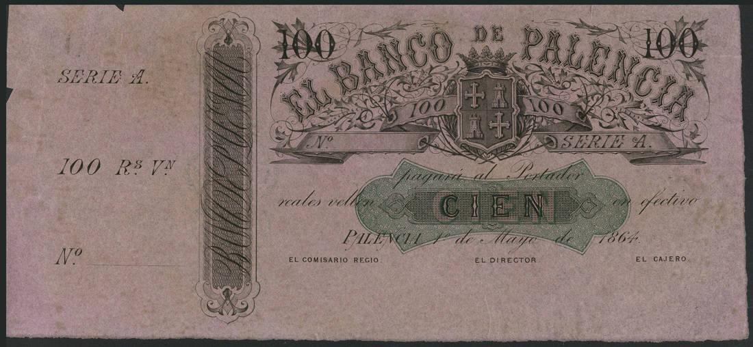 Banco de Palencia 100 reales