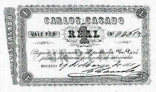 1 real, Banco Casado
