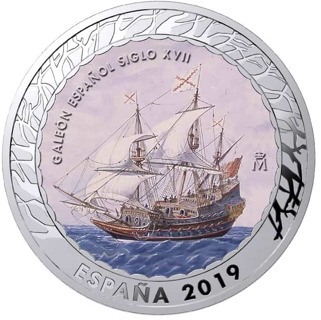 1,5 euros galeón español siglo XVIII