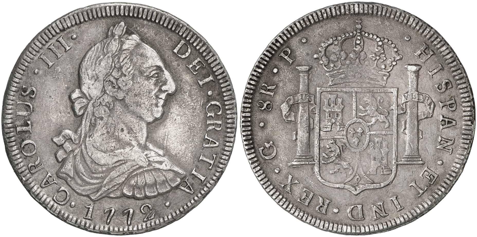 8 reales de Guatemala, diseño de busto