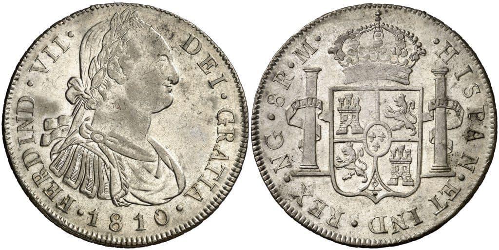 8 reales de Guatemala, busto de Carlos IV