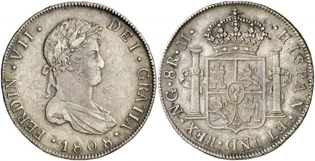 8 reales de Guatemala, busto de Fernando VII, 1808