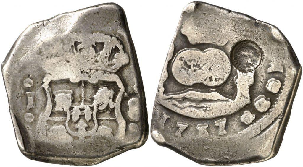 8 reales de Guatemala, 1737 resellado en Costa Rica