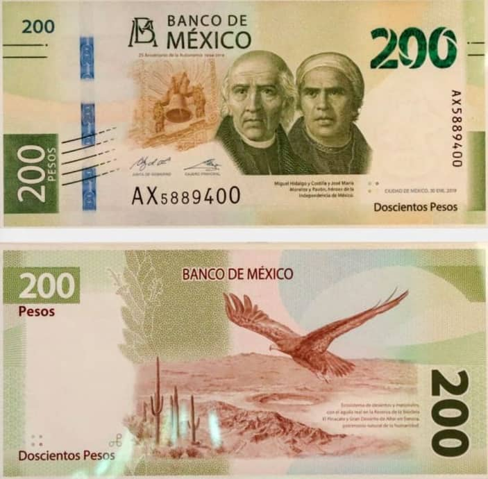 200 pesos billetes mexicanos