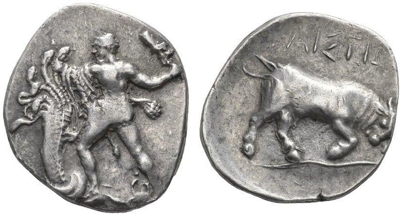 Representaciones numismáticas de los doce trabajos de Hércules