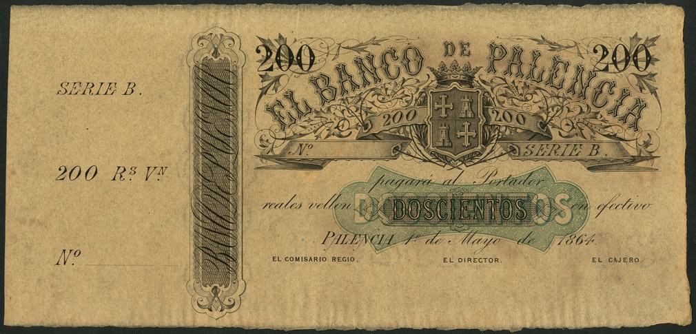 200 reales de vellon Banco de Palencia