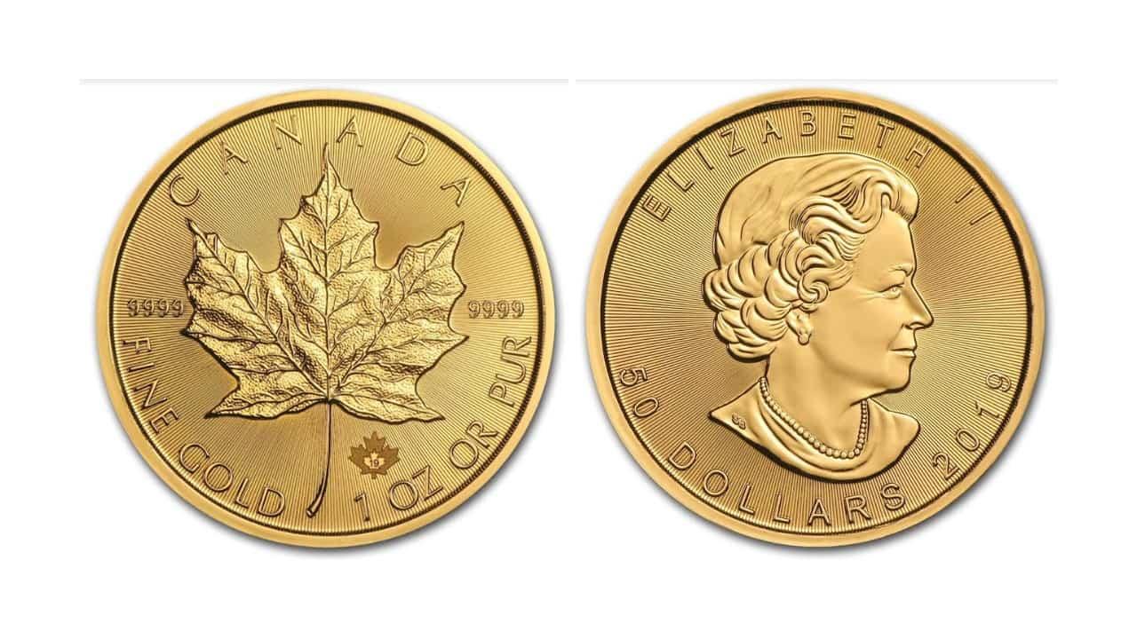 Una Onza Maple Leaf 2019