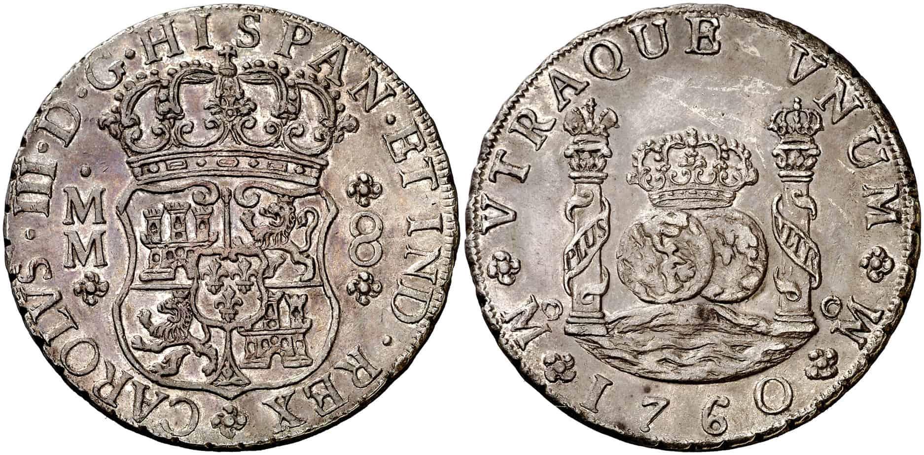 8 reales México 1760