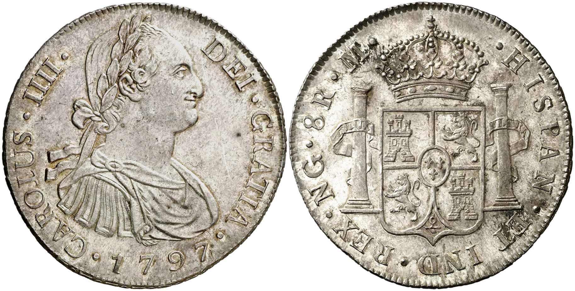 8 reales Nueva Guatemala 1797