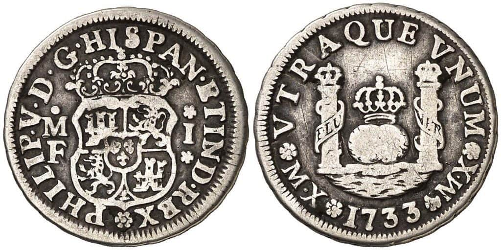1 real México 1733