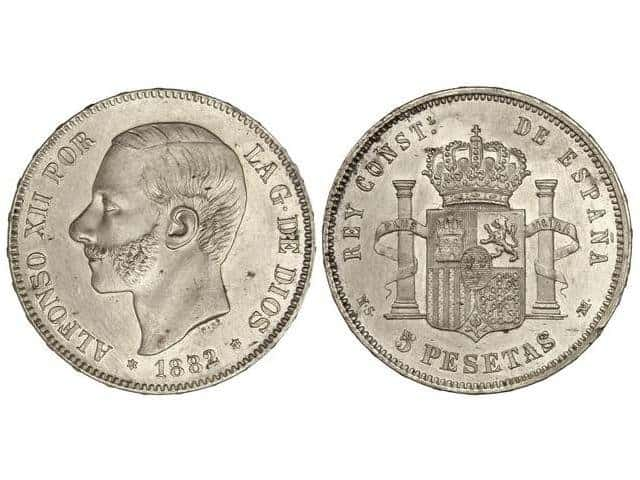 5 pesetas 1882 (18-82)