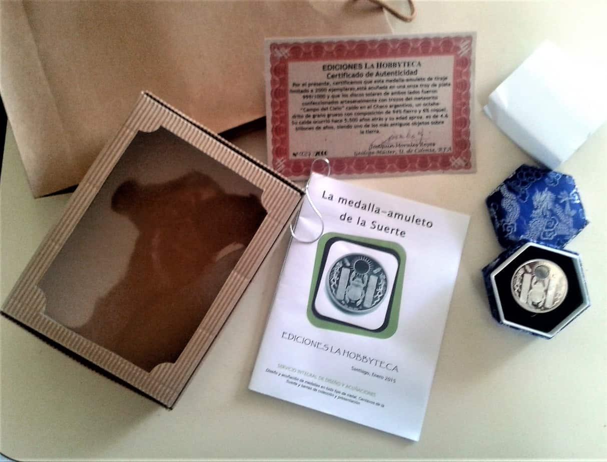 Set completo del amuleto de la suerte con meteorito