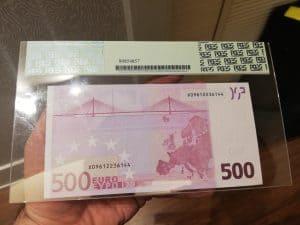 500 euros reverso