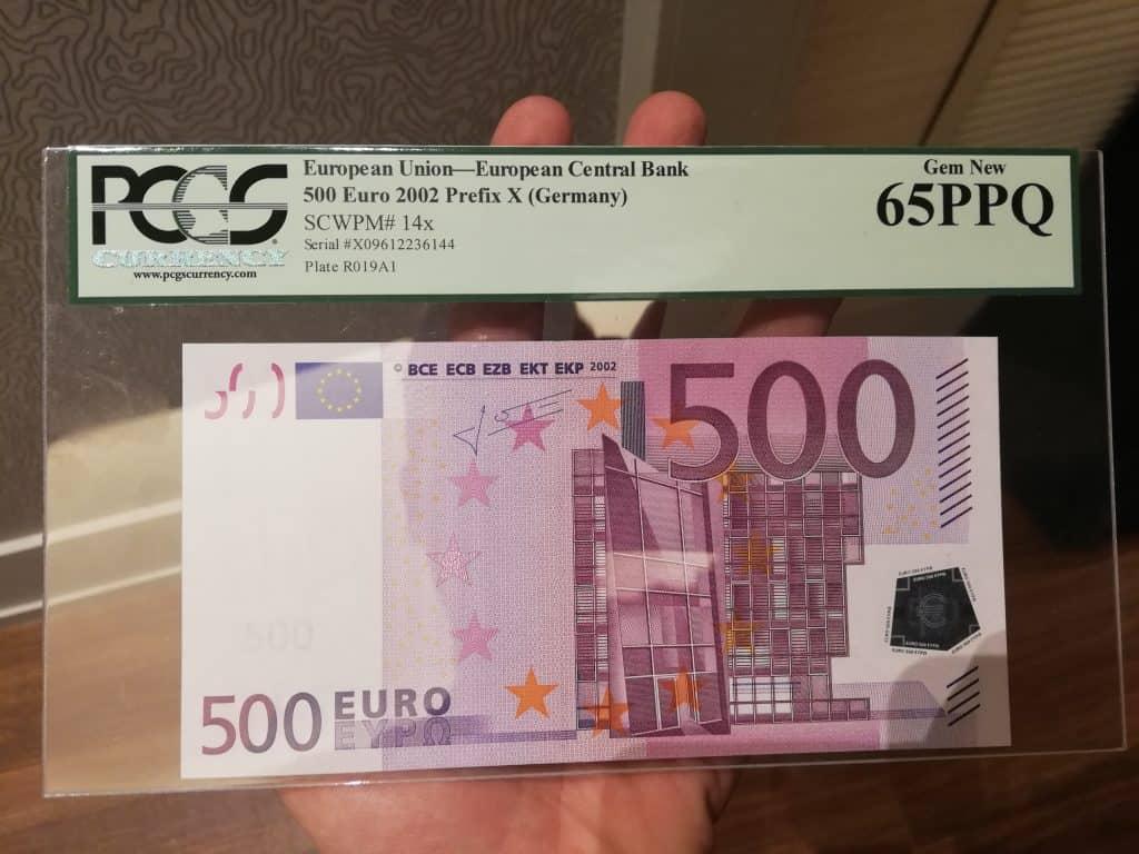 500 euros anverso