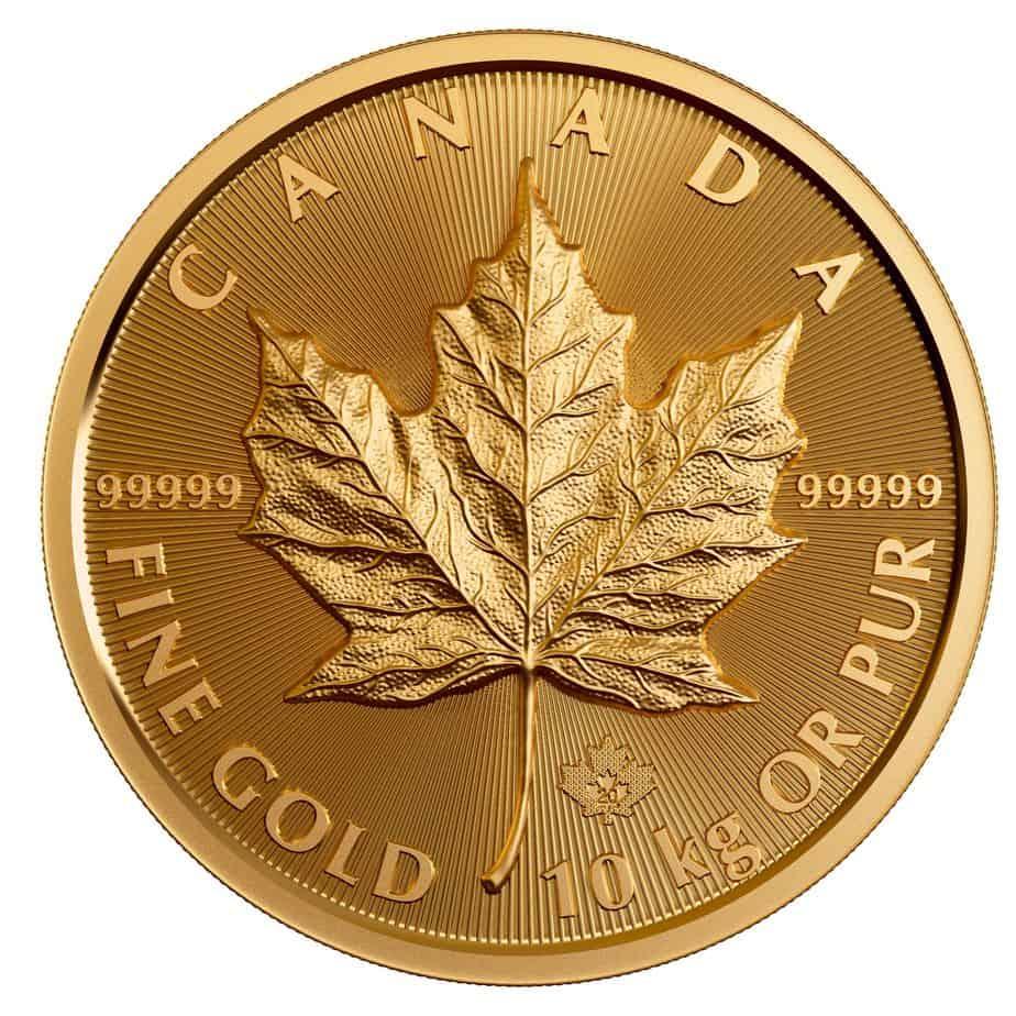 Canadá emite una moneda conmemorativa de 10 kilos de oro