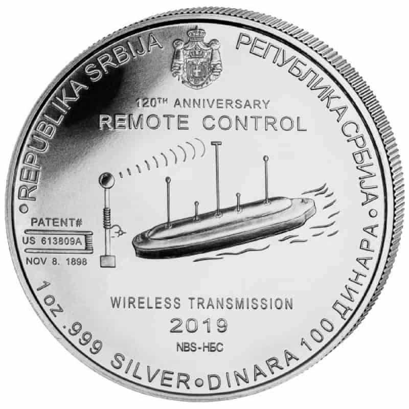 moneda Nikola Tesla 2019