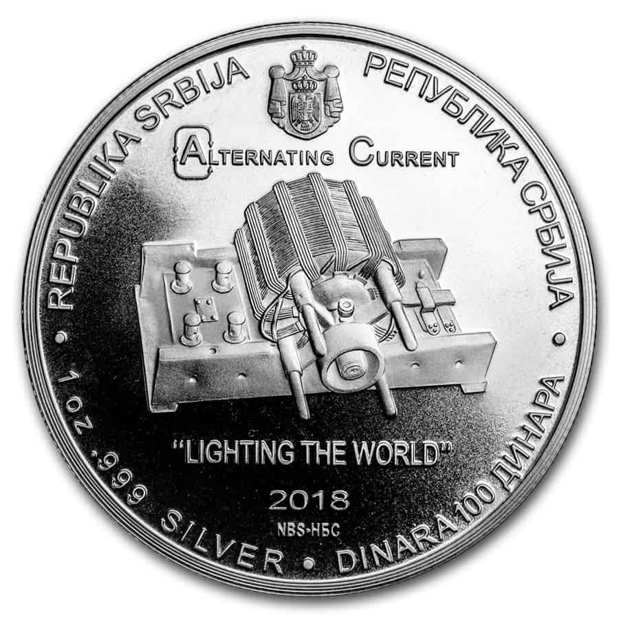 moneda Nikola Tesla 2018