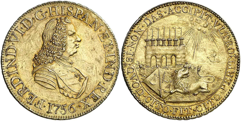 Medalla con el Puente de Calicanto, Santiago de Chile 1756
