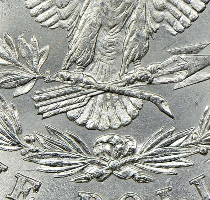 Dólar Morgan con 8 plumas