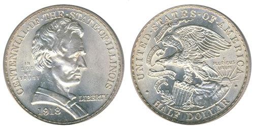 Medio dólar del centenario de Illinois de 1918