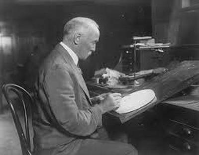 George T. Morgan trabajando. Imagen cortesía de Alex Doty