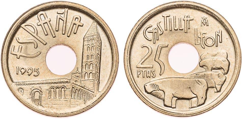 25 pesetas 1995 error