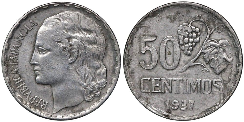 50 céntimos 1937, prueba no adoptada