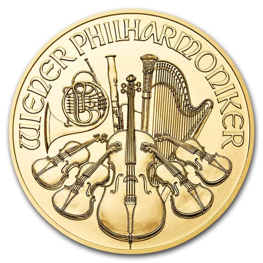moneda oro filarmonica, Austria
