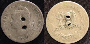 moneda de fajón de gaucho