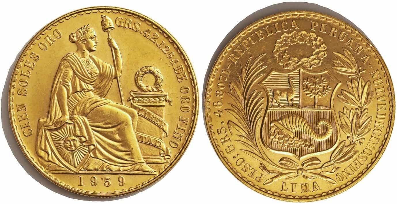 100 soles Perú 1959