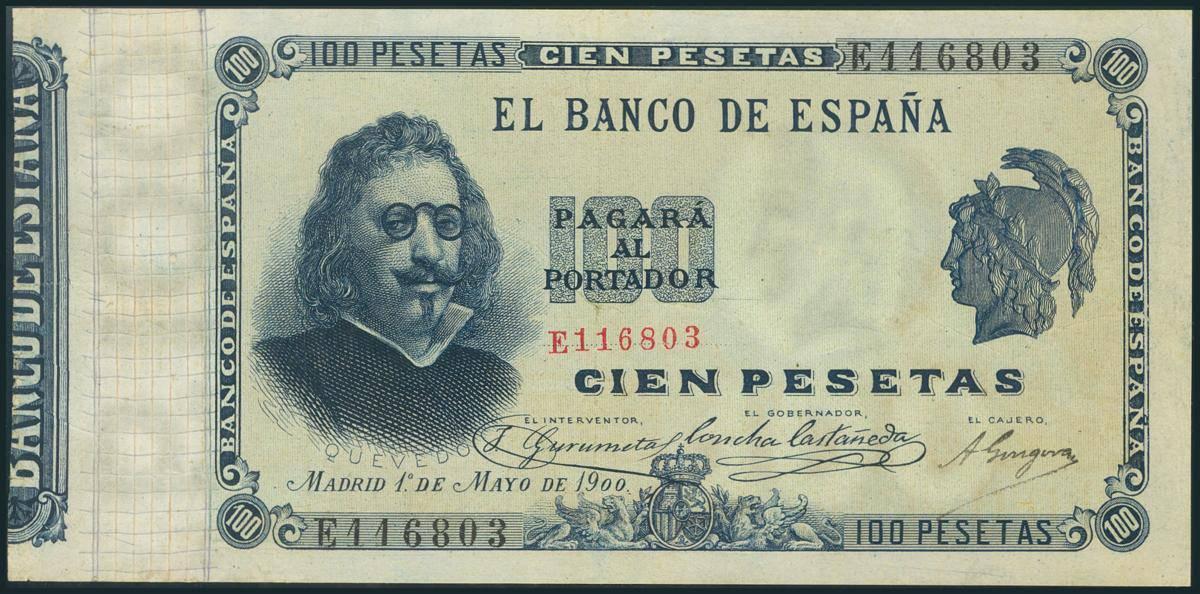 100 pesetas 1900, Quevedo