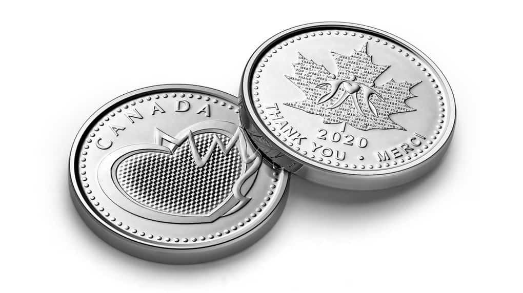 Medalla emitida por la Royal Canadian Mint