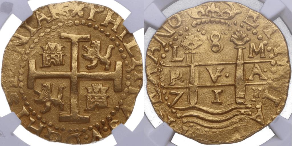 8 escudos Lima 1711