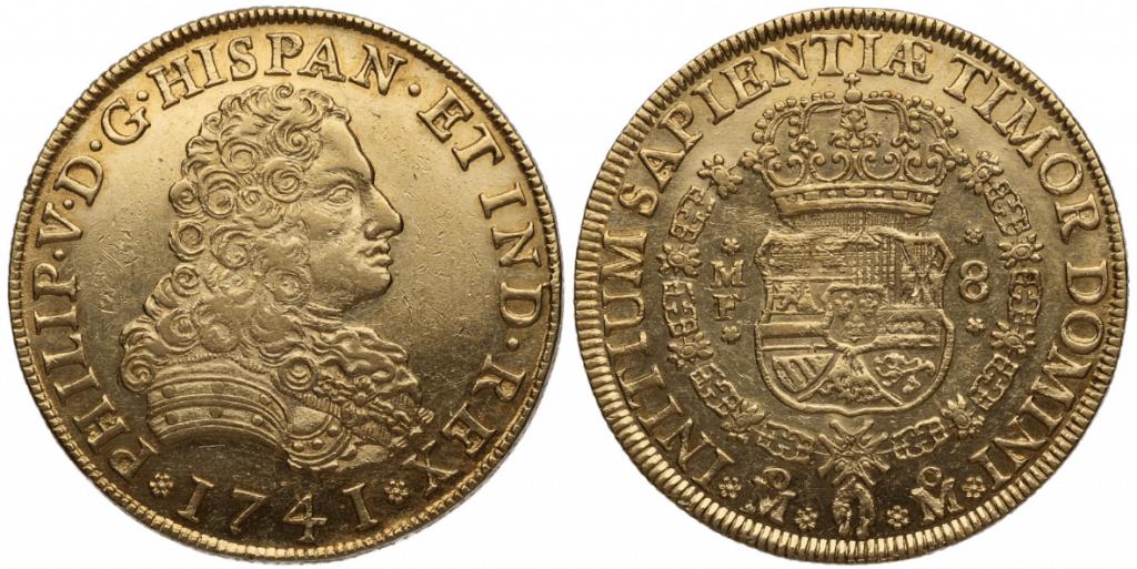 8 escudos Lima, 1741