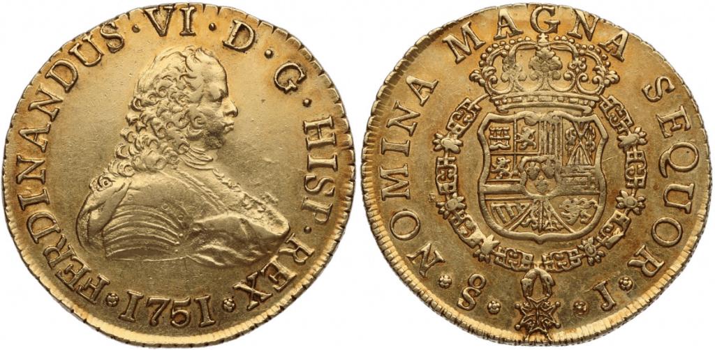 8 escudos Santiago, 1751