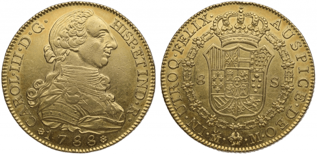 8 escudos Madrid, 1788