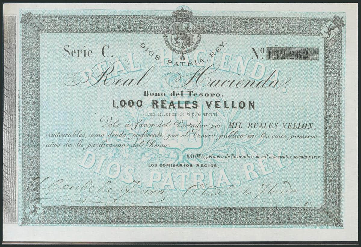 1000 reales Carlistas