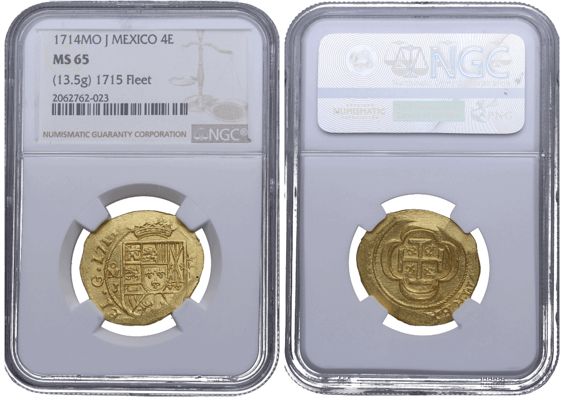 4 escudos 1714 México