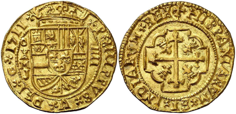 4 escudos México 1711 galano