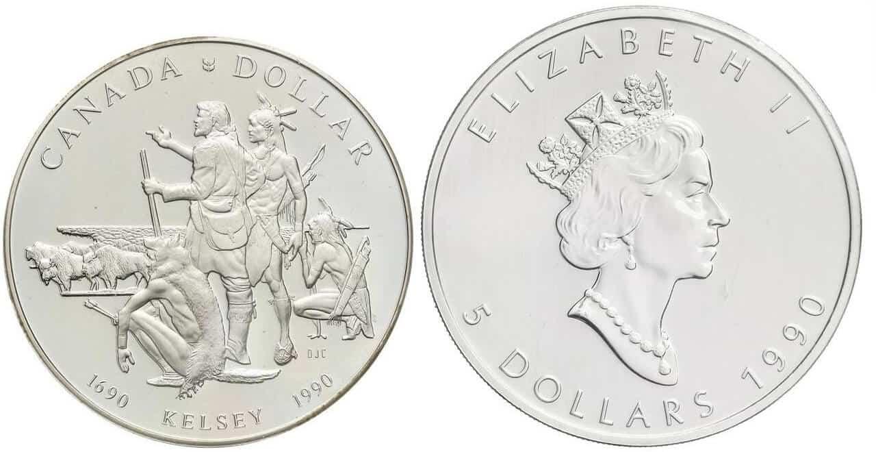 Canadá, 1 dólar 1990 Henry Kelsey