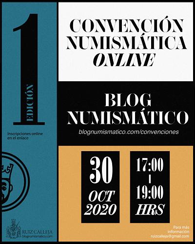 Primera Convención Numismática Online, 30 de octubre a las 17.00