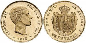 25 pesetas 1876