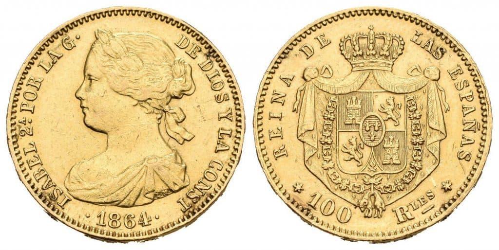 100 reales Isabel II
